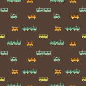 Vintage colorful tram pattern — Stock vektor