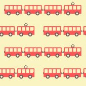 Amazing seamless vintage red tram texture — Stock Vector