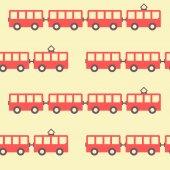 Amazing seamless vintage red tram texture — Cтоковый вектор