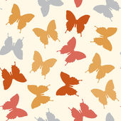 Seamless amazing vintage butterfly texture — Stock Vector