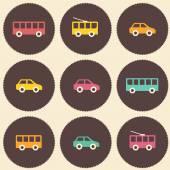 Amazing seamless vintage car pattern — 图库矢量图片