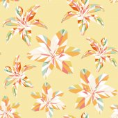 Seamless vintage spring colorful polygon flower pattern — Stock Vector