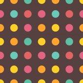 Seamless colorful geometric circle pattern — Stock Vector