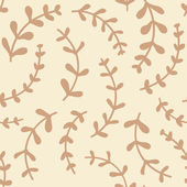 Amazing cute seamless vintage beige floral pattern — Stock Vector