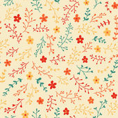 Amazing cute seamless vintage colorful floral pattern — ストックベクタ