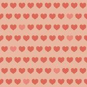 Amazing seamless colorful geometric heart pattern — Stock Vector