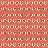 Şaşırtıcı kesintisiz renkli geometrik kalp desen — Stok Vektör