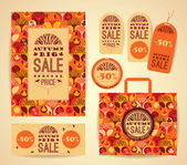 Design set for promotional items for autumn sale — Vector de stock