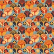 Autumn vector seamless pattern — Stock Vector #53383593