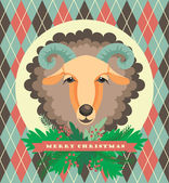 Vector illustration of sheep, symbol of 2015. — ストックベクタ