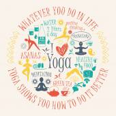 Yoga background with yogic quote — Stock Vector