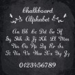 Vector illustration of chalked alphabet — Stock Vector #54338019