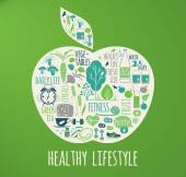 Healthy lifestyle vector illustration. — Stock Vector