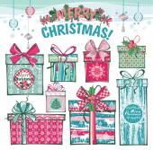 Vánoční a novoroční karta. — Stock vektor