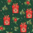 Merry Christmas and Happy New Year background. Seamless pattern. — Stock Vector #57568219