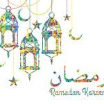 Ramadan background with Ramadan Kareem — Stock Vector #58289359