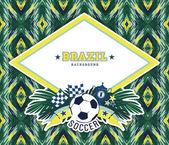 Brazil background — Stock Vector