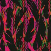 Bright abstract feathers — Wektor stockowy