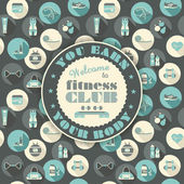 Fitness Icons background — Stock Vector