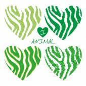 Green animal heart — Stock Vector