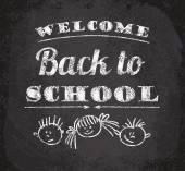 Back to school illustration — Stock Vector