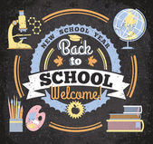 Back to school, illustration — Vector de stock