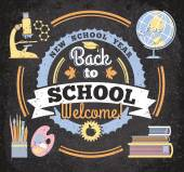 Back to school, illustration — Vetorial Stock