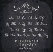 Vector illustration of chalked alphabet. — Stock Vector