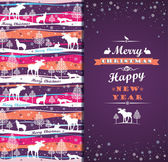 Merry Christmas background with Typography. — Stock Vector