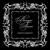Vector ornamental frame. Baroque pattern. — Stock Vector