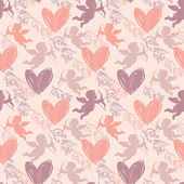 Happy Valentine's Day. Seamless pattern — Stock Vector