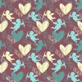 Happy Valentine's Day. Seamless pattern — Stockvector