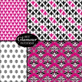 Set of glamour patterns — Stock Vector