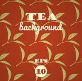Tea leaves background — Stock Vector