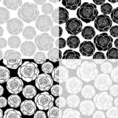 Floral seamless pattern set — Stock Vector