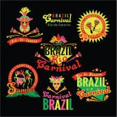 Brazilian Carnival. Big set of Brazilian templates — Stock Vector