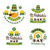 Typographic Saint Patricks Day Design. — Stock Vector