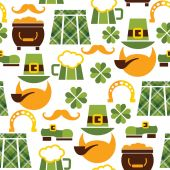 Saint Patrick's Day seamless pattern — Stock Vector
