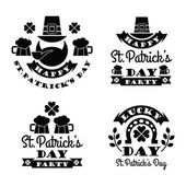 Typographic Saint Patricks Day Design. — Stock Vector