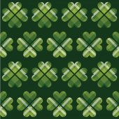 Saint Patrick's Day tartan seamless pattern.  — Stock Vector