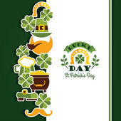 Saint Patricks Day baskground. — Stock Vector