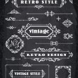 Set of Retro Vintage Badges, Frames, Labels and Borders. — Stock Vector #65447213