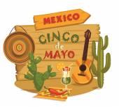 Cinco de Mayo. Vector illustration. — Stock Vector