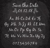 Chalked alphabet design — Stock Vector