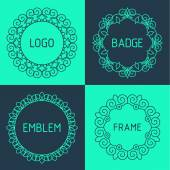 Outline frames and badges. — Stock Vector