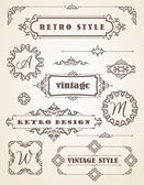 Vintage Badges, Frames, Labels and Borders. — Stock Vector