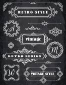 Vintage Badges, Frames, Labels and Borders — Stock Vector