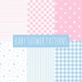 Baby shower: set of vector backgrounds. — ストックベクタ