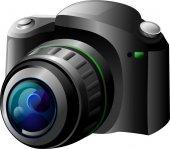 Fotocamera nera — Foto Stock