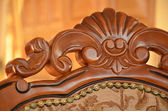 Detail of back an decorative wooden chair — Stock Photo